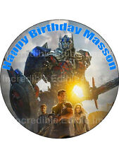 19cm Round Transformers Icing Cake Toppers