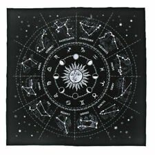 The Zodiac Tarot Cloth Decor Divination Cards Velveteen Square Tapestry  Black