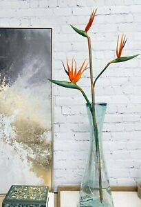 36 Inch Premium Bird of Paradise stem with 3 blooms-home decoration event center
