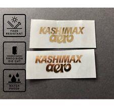 Kashimax Aero Seat Side Decals Gold Stickers old school BMX Restoration
