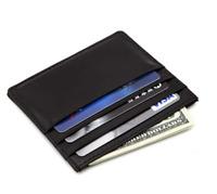 Black Mens Leather Credit Card Front Pocket Wallet Card Holder U.S Seller
