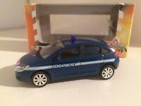 "Norev Citroën C4 Limousine ""Gendarmerie"" in Blau 3inch 1/64 OVP - selten"