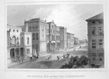 GERMANY Hannover Art & Sciences Museum - 1860 Original Engraving Print