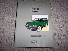 1990-1994 Land Rover Range Rover Service Repair Manual Diesel Gas 1992 1993