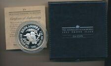 Australia: 1993 $2 2oz silver Kookaburra Proof, cased.