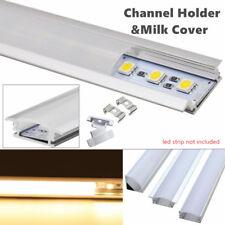 50cm U/V/YW Style Aluminum Case Shell&Milk Profil Couverture Pr Rigide LED Bande