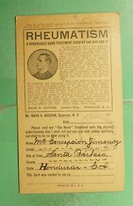 DR WHO 1926 HONDURAS SANTA BARBARA POSTCARD ADVERTISING MEDICINE/DRUGS g15694