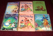 Lot of 6 Disney Little Golden Books Vintage 1950's Two First Edition A