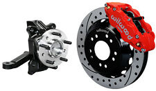 "WILWOOD FRONT DISC BRAKE KIT & DROP SPINDLES,71-87 CHEVY C10,GMC C15,13"" DRL,RED"