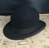 Vintage gents black felt bowler hat