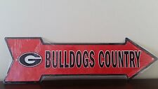 University of Georgia Bulldogs Country Embossed Wholesale Metal Arrow Sign