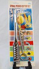 Vintage - NEW OLD STOCK NOS - Spiral Potato Cutter Set - Slicer Stringer Corer++