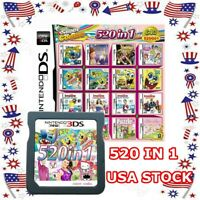 520 in 1 Video Games Card Multicart Nintendo NDS NDSL 2DS 3DS NDSI US Fast Ship