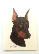 Robert J May Doberman Pinscher Head Study Greeting Card 6 x 8