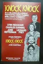 """Knock Knock Comedy Theater Broadway Window Card Poster 14"""" x 22"""""""