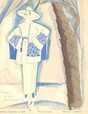 Gazette Du Bon Ton E. BENITO COSTUME TAILLEUR De Beer Fashion POCHOIR Art Deco