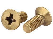 Brass M2 M2.5 M3 *5/6 8-25 Flat head Phillips Head Machine Screws Bolts
