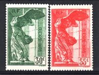 """FRANCE STAMP TIMBRE 354/55 """" VICTOIRE SAMOTHRACE LOUVRE 1937"""" NEUFS xx LUXE T455"""