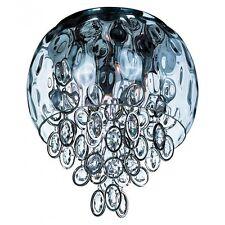 NIB Maxim Lighting 21470WGPN Six Light Water Glass Bowl Nickel Flush Mount
