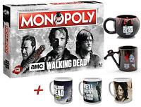 Monopoly The Walking Dead AMC Brettspiel Spiel + Tasse verschiedene Motive