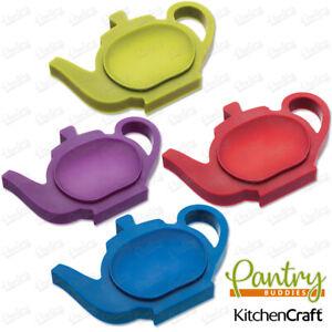 Kitchen Craft Silicone Tea Bag Holder /Spoon Rest With Nonslip Base- Full Range