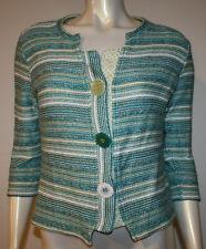 PER UNA Fine Knit FAIR ISLE 3//4 Sleeve JUMPER Size 10 NAVY Mix