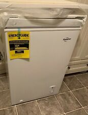Upright Chest Freezer Small Mini Compact 3.5 Cu. Ft. Flip-up Lid White