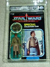 Vintage Star Wars 1985 AFA 80+ LANDO CALRISSIAN GENERAL POTF 92 BACK MOC UNPUNCH