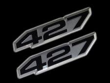 VMS 2 CHEVY 427 CI CUBIC INCH ENGINE HO EMBLEM BLACK SILVER