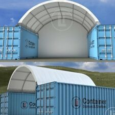 20' Shipping Container Dome Shelter, 6m x 6m x 2m PVC, UV resistant, metal frame