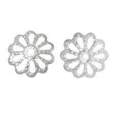 Lot 100 Coupelles / caps / Calottes 9mm Argenté perles breloques 9 mm argente