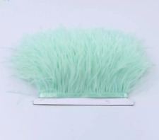 Soft Mint Green Ostrich Feather Fringe Ribbon Trim Price for 30cm DIY Craft