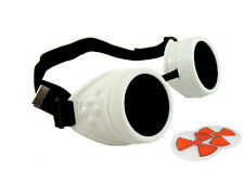 ICE WHITE CYBER GOGGLES STEAMPUNK WELDING GOTH COSPLAY