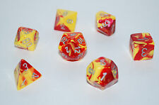 Dungeons & Dragons Fantasy 16mm 7 Piece Dice Set: Gemini Red/Yellow  26450