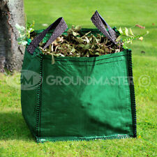 GroundMaster 180L Garden Waste Bags - Large Heavy Duty Refuse Sacks With Handles