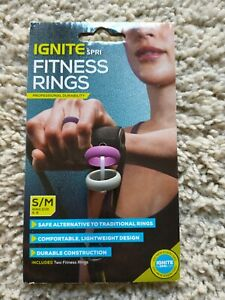 Fitness Ring Set of 2 Fits Women's Small/Medium Ring Size 6-8 Ignite by SPRI NEW