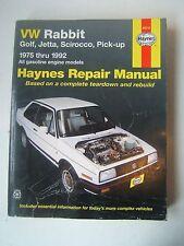 VW Rabbit Golf Jetta Pickup Gas Engines Haynes Repair Manual 1975-1992 Shop Used