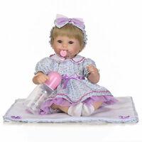 16'' Lifelike Reborn Baby Girl Doll Realistic Vinyl Handmade Baby Dolls Newborn