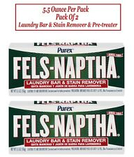 New ListingPurex Fels-Naptha Laundry Bar & Stain Remover & Pre-treater, 5.5 Oz Pack of 2.