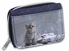 Animal Fantasy Cat+Snow Leopard Girls/Ladies Denim Purse Wallet Christm, AC-73JW
