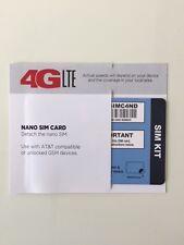 TRACFONE NANO SIM CARD AT&T NETWORK }