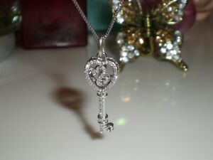 Jane Seymour Open Hearts SS Limited Edition Rhythm Diamond Key Necklace  💎  KAY