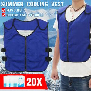 Cooling Vest Clothes Outdoor Work Sunstroke Prevente TC Cloth Polyester Fiber