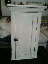 LOVELY PRIMITIVE SHABBY CHIC SHELF WALL CABINET PERFECT PATINA SALE