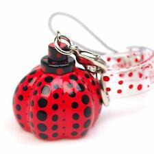 YAYOI KUSAMA 'Dots Obsession (Red)' Pumpkin Charm Phone Strap / Zipper Pull NEW!