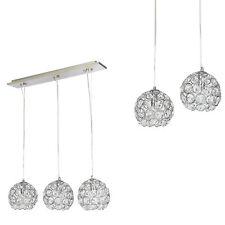 [lux.pro] Lampadario lampada soffitto Design cromo+cristallo allumino plafoniera