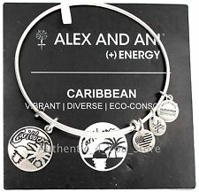 NEW Alex and Ani Caribbean Exclusive Palm Tree Sunset SILVER Charm Bracelet