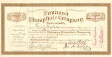 Nabassa Phosphate Company - Stock Certificate