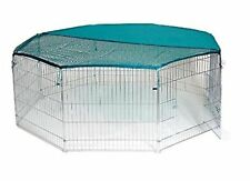 Metal 8 Panel Playpen With Free Safety Net 55 x 55-inch Extra Large For Rabbits
