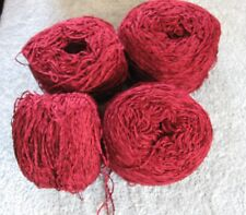 Chenille yarn 4 cakes wine red  14.4oz